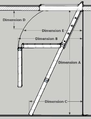 Schematics_Attic_ladder_swing_clearance