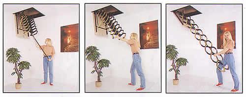 Steel Telescopic Attic Stairs